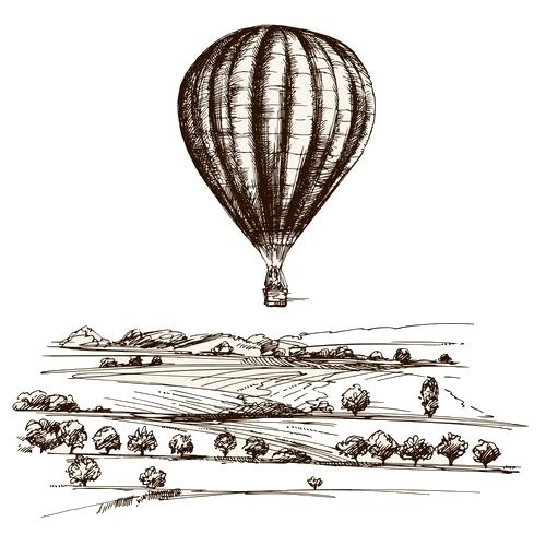 Let balonem, vyhlídkový let nad okolím