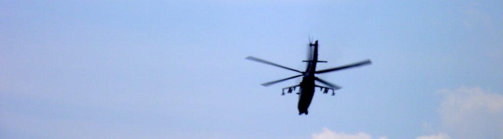 Vrtulník Kamov Ka-50 na Aviatické pouti v Pardubicích