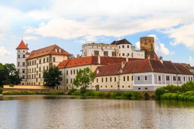 Let balonem nad hradem a zámkem Jindřichův Hradec
